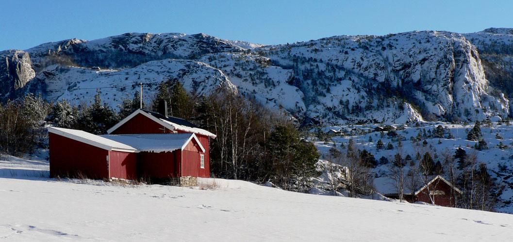 solbakken gård vinter